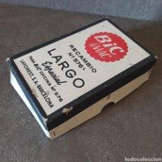 Bolígrafos antiguos: ANTIGUA CAJA VACIA DE BOLIGRAFOS BIC IMAC RECAMBIO Nº576 LARGO ESPECIAL PARA BIC OFICINA. Lote 46080091