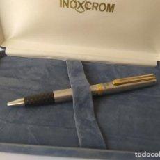 Bolígrafos antiguos: BOLÍGRAFO INOXCROM IVECO SPAIN 23,6 GOLD ELECTROLATED SIN USO TINTA INCLUIDO NUEVA SIN USO. Lote 204587061