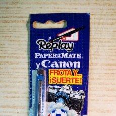 Bolígrafos antiguos: CANON PAPER MATE REPLAY A ESTRENAR. Lote 206140115