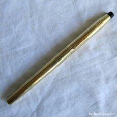 Bolígrafos antiguos: ROTULADOR CROSS BAÑO ORO 12 KT, SIN TINTA. Lote 206260496
