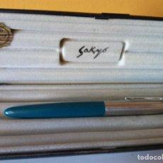 Esferográficas antigas: BOLIGRAFO SAKYO INOXCROM. GOLD ELECTROPLATED 24KTS. MUY BONITO.. Lote 206309943