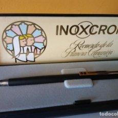 Esferográficas antigas: BOLIGRAFO INOXCROM. RECUERDO DE LA PRIMERA COMUNION.. Lote 206310341