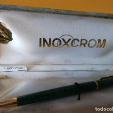 Esferográficas antigas: BOLIGRAFO INOXCROM. GOLD ELECTROPLATED 24KTS. MUY BONITO.. Lote 206317662