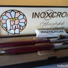 Bolígrafos antiguos: BOLIGRAFO INOXCROM. MUY BONITO. RECUERDO DE LA PRIMERA COMUNION.. Lote 206318048