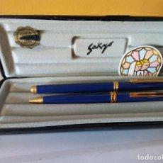 Bolígrafos antiguos: BOLIGRAFO SAKYO INOXCROM. GOLD ELECTROPLATED 24KTS. MUY BONITO.. Lote 206318733