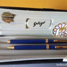 Bolígrafos antiguos: BOLIGRAFO SAKYO INOXCROM. GOLD ELECTROPLATED 24KTS. MUY BONITO.. Lote 206318811