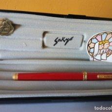 Bolígrafos antiguos: BOLIGRAFO SAKYO INOXCROM. GOLD ELECTROPLATED 24KTS. MUY BONITO.. Lote 206318890