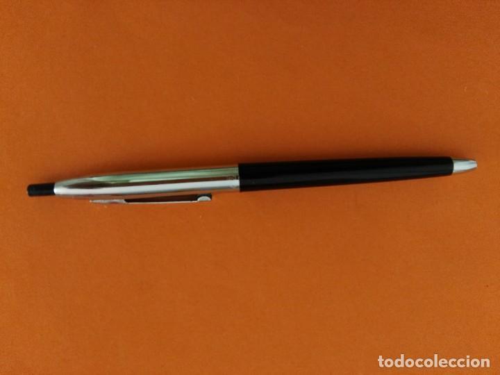 ANTIGUO BOLIGRAFO BIC METALICO Y NEGRO (Plumas Estilográficas, Bolígrafos y Plumillas - Bolígrafos)