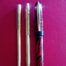 Bolígrafos antiguos: LOTE DE 3 BOLÍGRAFOS. Lote 207139703