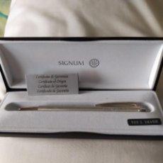 Bolígrafos antiguos: BOLIGRAFO SIGNUM PLATA 925. Lote 209343243