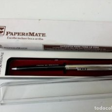 Bolígrafos antiguos: BOLIGRAFO PAPERMATE EN ESTUCHE.. Lote 210544618