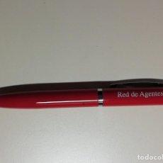 Bolígrafos antiguos: ANTIGUO BOLIGRAFO DE PUBLICIDAD BANCO SANTANDER- RED DE AGENTES COLABORADORES- A ESTRENAR. Lote 210551693