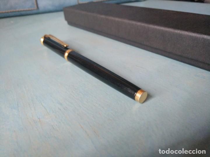 Bolígrafos antiguos: ROLLER WATERMAN HARMONIE LACADO EN NEGRO - Foto 7 - 211881763