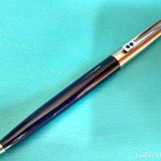 Bolígrafos antiguos: BOLÍGRAFO INOXCROM 55, AZUL Y ACERO. Lote 213609622