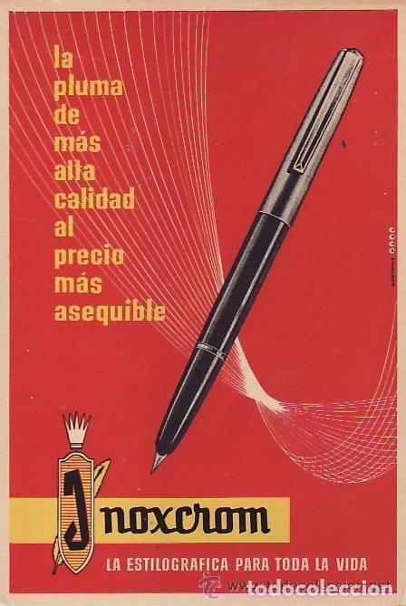 Bolígrafos antiguos: BOLÍGRAFO INOXCROM 55, AZUL Y ACERO - Foto 2 - 213609622