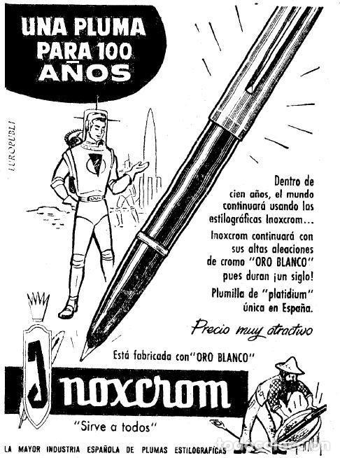 Bolígrafos antiguos: BOLÍGRAFO INOXCROM OBELISCO, MODELO 44M - Foto 2 - 213617435