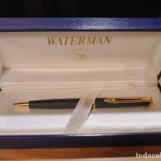 Bolígrafos antiguos: BOLÍGRAFO WATERMAN HÉMISPHÈRE NEGRO MATE G.T.. Lote 214139893