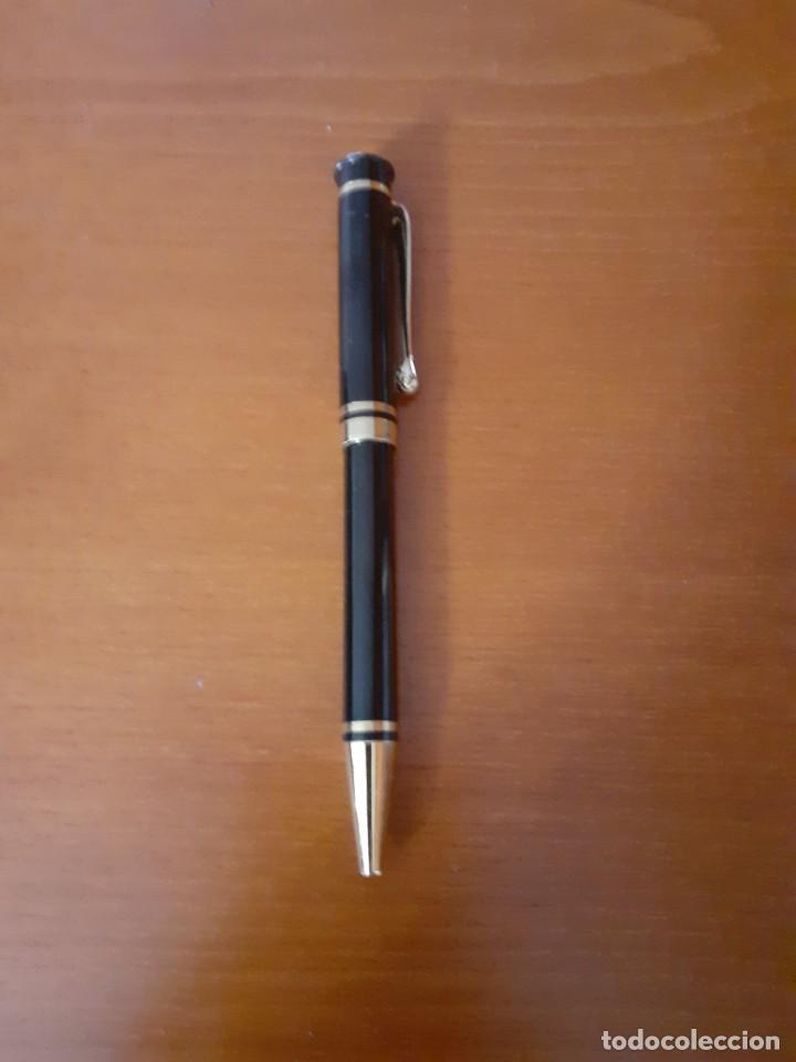 BOLIGRAFO PIERRE CARDIN EN LACADO NEGRO Y DORADO, SIN CARGA (Plumas Estilográficas, Bolígrafos y Plumillas - Bolígrafos)