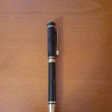 Bolígrafos antiguos: BOLIGRAFO PIERRE CARDIN EN LACADO NEGRO Y DORADO, SIN CARGA. Lote 215098102