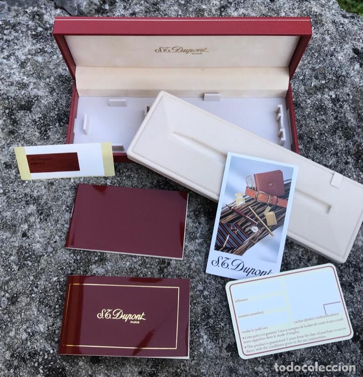 Bolígrafos antiguos: Caja para bolígrafo ST. Dupont - Paris - incluye caja de cartón y toda la documentación - Foto 2 - 217265975