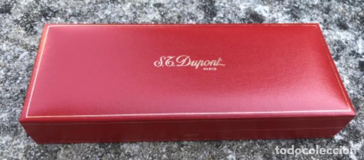 Bolígrafos antiguos: Caja para bolígrafo ST. Dupont - Paris - incluye caja de cartón y toda la documentación - Foto 3 - 217265975