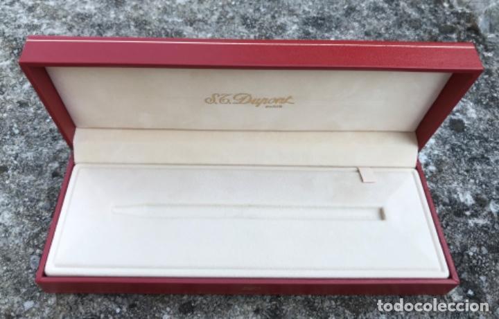 Bolígrafos antiguos: Caja para bolígrafo ST. Dupont - Paris - incluye caja de cartón y toda la documentación - Foto 4 - 217265975