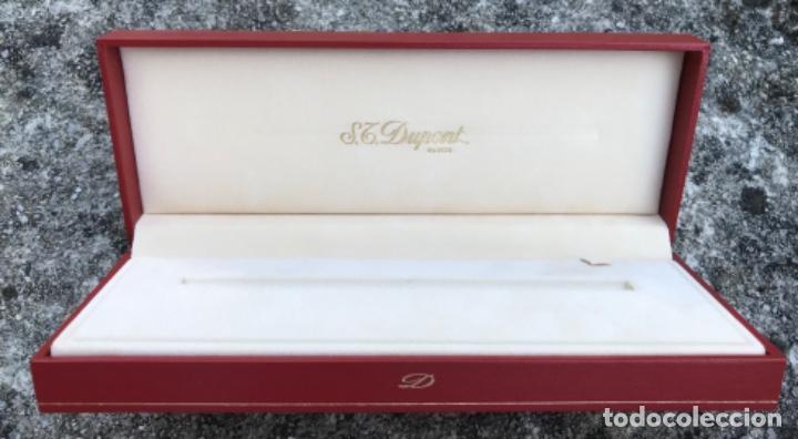 Bolígrafos antiguos: Caja para bolígrafo ST. Dupont - Paris - incluye caja de cartón y toda la documentación - Foto 5 - 217265975