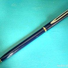 Bolígrafos antiguos: BOLÍGRAFO WATERMAN LACADO EN AZUL, AÑOS 90. Lote 217384747