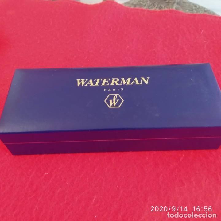 Bolígrafos antiguos: Bolígrafo Waterman, París, en su estuche con papeles, ver fotos. - Foto 2 - 217713680