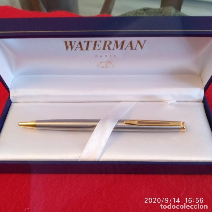 Bolígrafos antiguos: Bolígrafo Waterman, París, en su estuche con papeles, ver fotos. - Foto 3 - 217713680