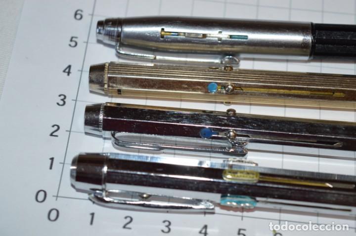 Bolígrafos antiguos: Lote/ 4 modelos de bolígrafos, modelos variados, tipo MULTICOLOR - De COLECCIÓN ¡Mira! - Foto 2 - 217842005