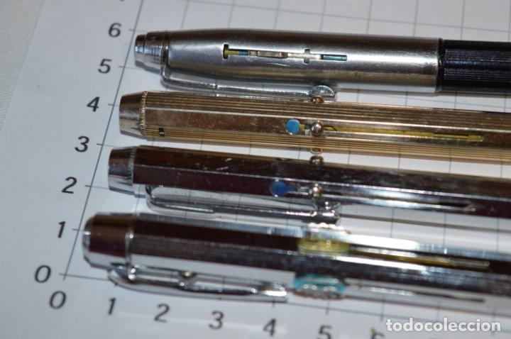 Bolígrafos antiguos: Lote/ 4 modelos de bolígrafos, modelos variados, tipo MULTICOLOR - De COLECCIÓN ¡Mira! - Foto 3 - 217842005