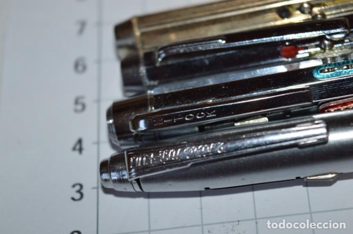 Bolígrafos antiguos: Lote/ 4 modelos de bolígrafos, modelos variados, tipo MULTICOLOR - De COLECCIÓN ¡Mira! - Foto 6 - 217842005