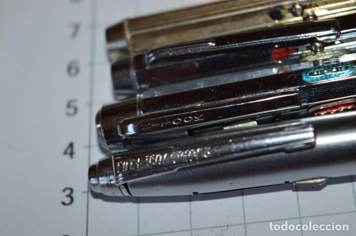 Bolígrafos antiguos: Lote/ 4 modelos de bolígrafos, modelos variados, tipo MULTICOLOR - De COLECCIÓN ¡Mira! - Foto 7 - 217842005