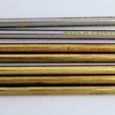 Bolígrafos antiguos: 7 RECAMBIOS PARA BOLÍGRAFO ANTIGUO. STAR LIGHTER Y RECORD MINE. DIFERENTES COLORES. Lote 218250940