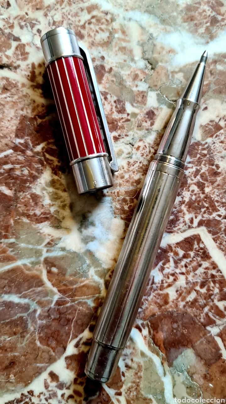 Bolígrafos antiguos: Magnifico y expectacular boligrafo en plata y esmalte realizado por Pedro Duran, impecable, firmado. - Foto 2 - 218674637