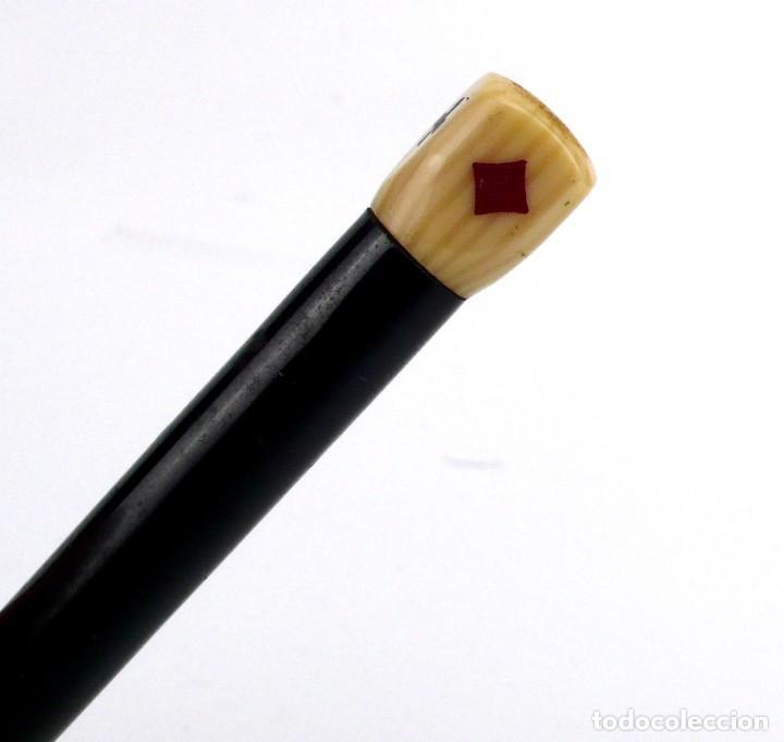Bolígrafos antiguos: Portaminas - dado de Bridge o Póker- Celuloide - años 40-50 - Foto 3 - 220425086