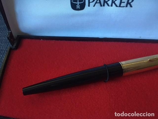 Bolígrafos antiguos: Pluma Parker chapada oro 12kt - Made in Spain - Foto 3 - 220757372