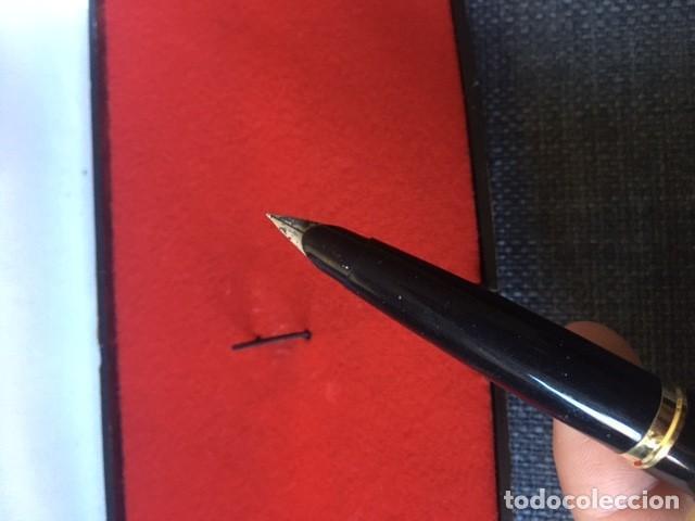 Bolígrafos antiguos: Pluma Parker chapada oro 12kt - Made in Spain - Foto 4 - 220757372