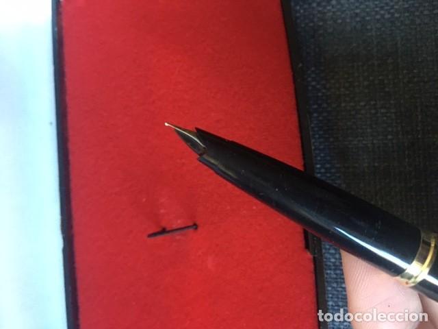 Bolígrafos antiguos: Pluma Parker chapada oro 12kt - Made in Spain - Foto 5 - 220757372