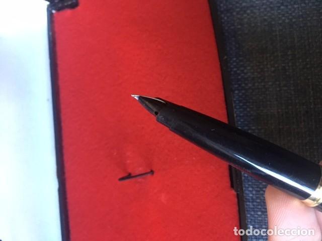 Bolígrafos antiguos: Pluma Parker chapada oro 12kt - Made in Spain - Foto 6 - 220757372