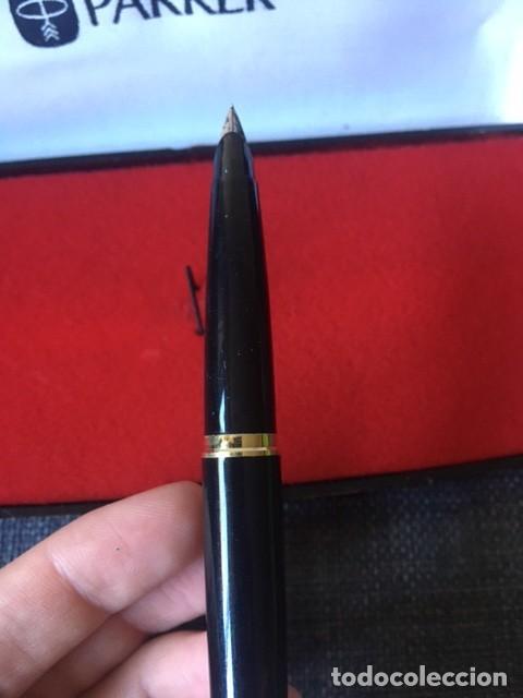 Bolígrafos antiguos: Pluma Parker chapada oro 12kt - Made in Spain - Foto 7 - 220757372