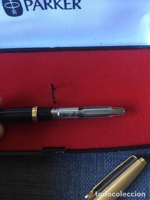 Bolígrafos antiguos: Pluma Parker chapada oro 12kt - Made in Spain - Foto 8 - 220757372