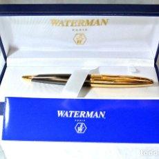 Bolígrafos antiguos: BOLIGRAFO WATERMAN CARENE EDICION ESPECIAL, AMETHYST BRONZE-GOLD TONE, NUEVO CON ESTUCHE. Lote 222235703