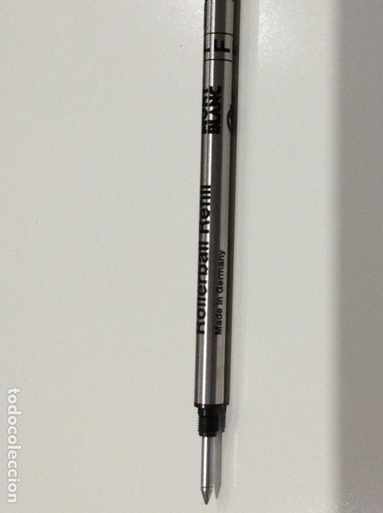 Bolígrafos antiguos: Rollerball refill de Mont Blanc años 70. De resina y oro. Germany. Impecable. Sin usar - Foto 10 - 189480805