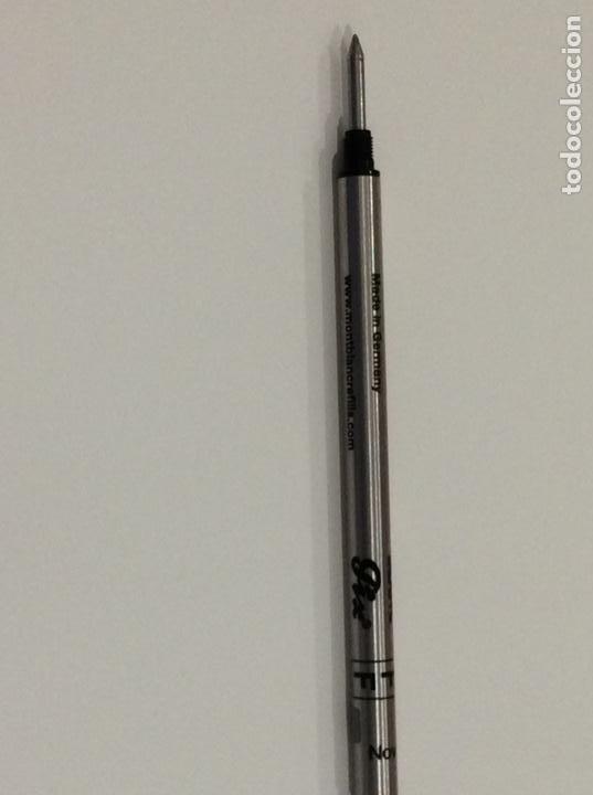 Bolígrafos antiguos: Rollerball refill de Mont Blanc años 70. De resina y oro. Germany. Impecable. Sin usar - Foto 12 - 189480805