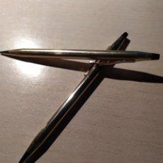 Bolígrafos antiguos: BOLÍGRAFO Y PORTA MINAS CROSS 1/20 10 KT. RALLED GOLD MADE UN IRELAND. Lote 222149301