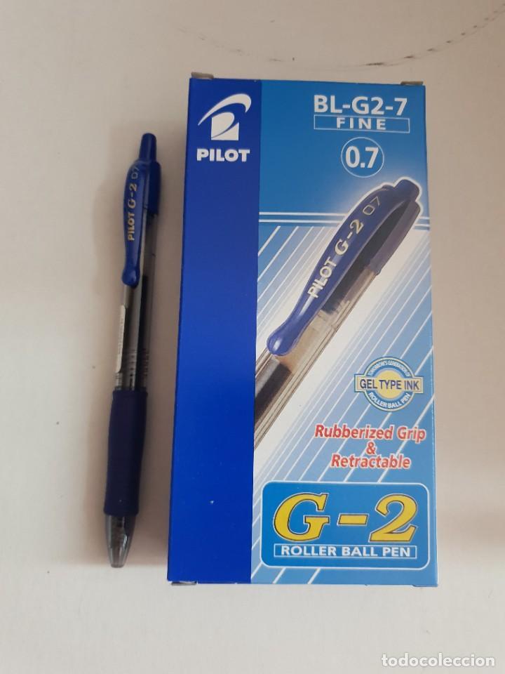 CAJA 12 BOLIGRAFOS PILOT G2 COLOR AZUL (Plumas Estilográficas, Bolígrafos y Plumillas - Bolígrafos)