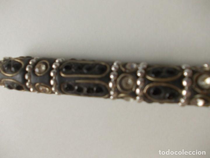 Bolígrafos antiguos: bolígrafo con decoración de piedras y metal - Foto 2 - 224501898