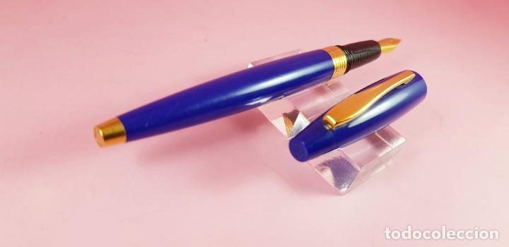Bolígrafos antiguos: 10398/PLUMA ESTILOGRAFICA-INOXCROM NAUTILUS-AZULÓN-DESCATALOGADA-COLECCIONISTAS - Foto 8 - 225287130
